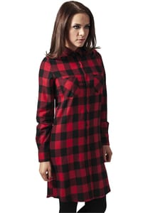 Urban Classics TB1216 - Ladies Checked Flanell Shirt Dress