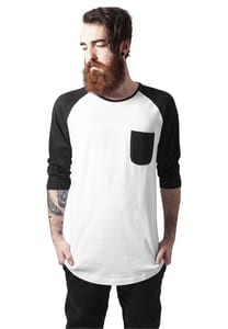 Urban Classics TB1230 - Long Raglan 3/4 Sleeve Pocket Tee