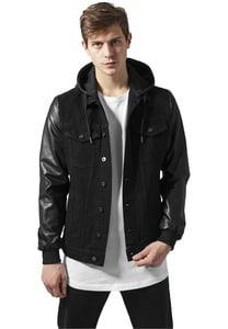 Urban Classics TB1257 - Hooded Denim Leather Imitation Jacket