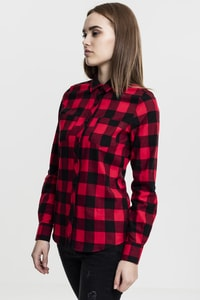 Urban Classics TB1280 - Ladies Turnup Checked Flanell Shirt
