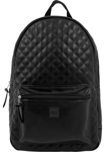 Urban Classics TB1285 - Diamond Quilt Leather Imitation Backpack