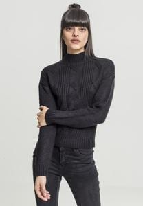 Urban Classics TB1349 - Ladies Short Turtleneck Sweater
