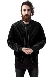 Urban Classics TB1452 - Diamond Quilt Velvet Jacket