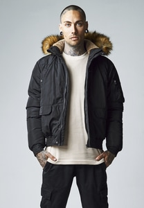 Urban Classics TB1455 - Hooded Heavy Bomber Jacket