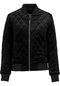 Urban Classics TB1468 - Ladies Diamond Quilt Velvet Jacket