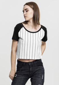 Urban Classics TB1507 - Cropped Baseball T-shirt donna