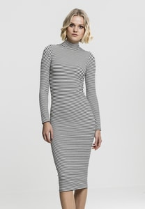 Urban Classics TB1709 - Ladies Striped Turtleneck Dress