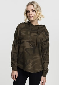 Urban Classics TB1724 - Ladies Oversized Camo Hoody