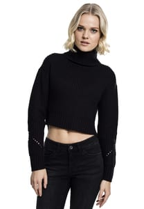 Urban Classics TB1744 - Ladies HiLo Turtleneck Sweater