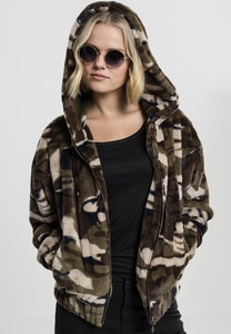 Urban Classics TB1753 - Ladies Camo Teddy Jacket