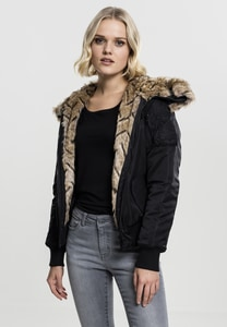 Urban Classics TB1759 - Ladies Imitation Fur Bomber Jacket