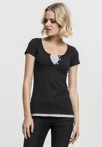 Urban Classics TB1822 - Ladies Two-Colored T-Shirt