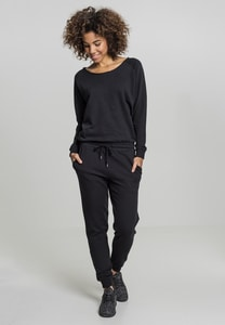 Urban Classics TB1841 - Ladies Long Sleeve Terry Jumpsuit