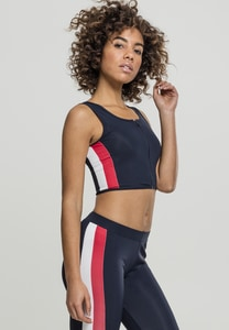 Urban Classics TB1895 - Ladies Side Stripe Cropped Zip Top