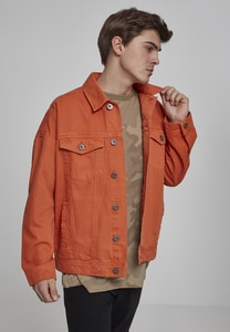 Urban Classics TB2091 - Oversize Garment Dye Jacket rust orange