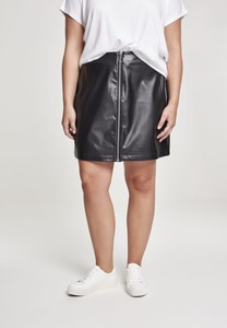 Urban Classics TB2370 - Ladies Faux Leather Zip Skirt