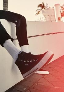Urban Classics TB2579 - Leinen-Sneaker mit hoher Spitze