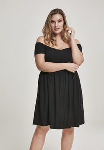 Urban Classics TB2605 - Ladies Smoked Off Shoulder Dress