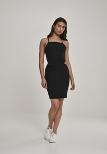 Urban Classics TB2614 - Ladies Short Spaghetti Pique Dress