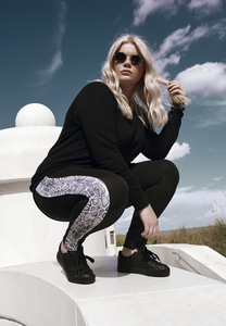 Urban Classics TB2637 - Ladies Side Striped Pattern Leggings