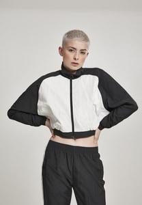 Urban Classics TB2662 - Ladies Short Raglan Crinkle Batwing Jacket