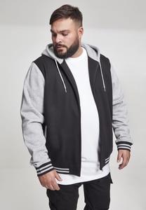 Urban Classics TB287 - Sweatshirt à capuche à 2 couleurs avec fermeture éclair