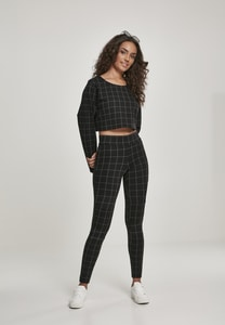 Urban Classics TB3000 - Ladies Check High Waist Leggings