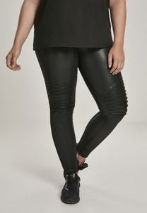 Urban Classics TB3003 - Ladies Faux Leather Biker Leggings