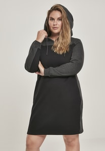 Urban Classics TB3011 - Ladies 2-Tone Hooded Dress