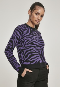 Urban Classics TB3033 - Ladies Short Tiger Sweater