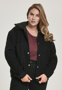 Urban Classics TB3051 - Ladies Oversized Corduroy Sherpa Jacket