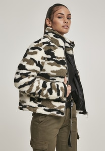 Urban Classics TB3054 - Ladies Camo Sherpa Jacket