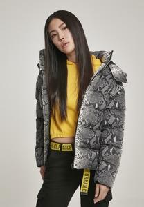 Urban Classics TB3068 - Ladies AOP Hooded Puffer Jacket