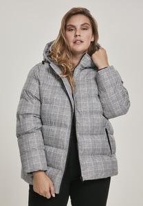 Urban Classics TB3070 - Ladies AOP Glencheck Puffer Jacket