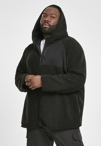 Urban Classics TB3121 - Hooded Sherpa Zip Jacket