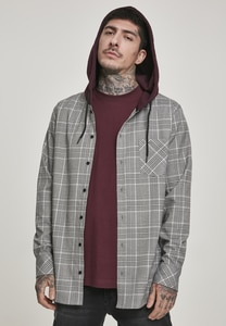 Urban Classics TB3134 - Hooded Glencheck Shirt