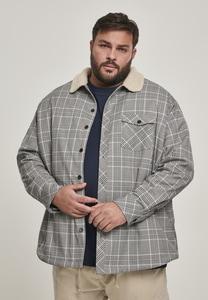 Urban Classics TB3135 - Sherpa Lined Glencheck Shirt Jacket