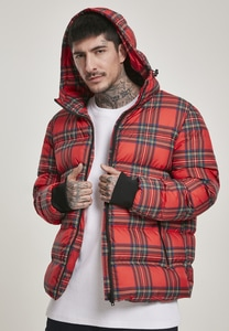 Urban Classics TB3157 - Hooded Check Puffer Jacket