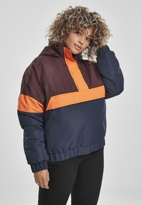 Urban Classics TB3239 - Ladies 3-Tone Neon Mix Pull Over Jacket
