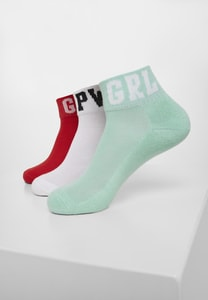 Urban Classics TB3302 - Girl Power Socks 3-Pack