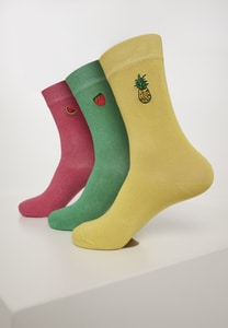 Urban Classics TB3305 - Fun Embroidery Socks 3-Pack