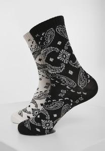 Urban Classics TB3396 - Bandana Pattern Socks 2-Pack