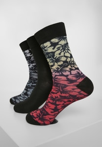 Urban Classics TB3398 - Flower Socks 3-Pack