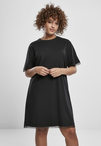 Urban Classics TB3411 - Ladies Boxy Lace Hem Tee Dress