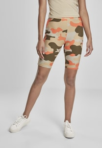 Urban Classics TB3423 - Ladies High Waist Camo Tech Cycle Shorts