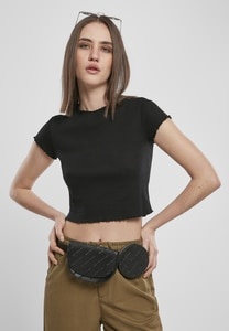 Urban Classics TB3444 - Ladies Cropped Rib Tee