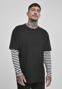 Urban Classics TB3498 - Oversized Double Layer Striped LS Tee