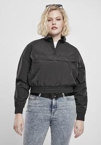 Urban Classics TB3630 - Ladies Cropped Crinkle Nylon Pull Over Jacket