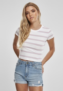 Urban Classics TB3650 - Ladies Stripe Cropped Tee