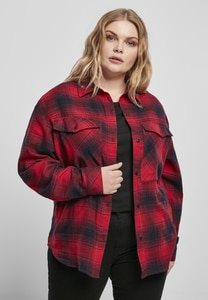 Urban Classics TB3767 - Ladies Check Overshirt